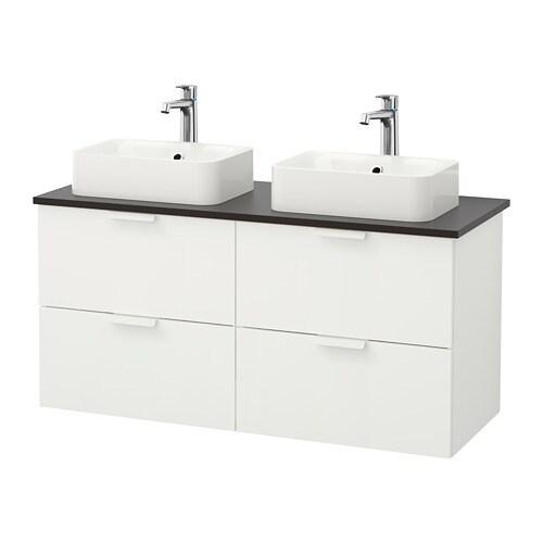 GODMORGON/TOLKEN / HÖRVIK Mobile lavabo/lavabo45x32 per piano - antracite, bi...