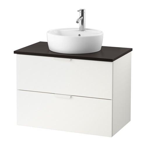 GODMORGON/TOLKEN / TÖRNVIKEN Mobile/lavabo 45/piano appoggio ...