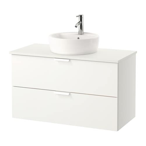 ... / TÖRNVIKEN Mobile/lavabo 45/piano bagno - bianco, bianco - IKEA