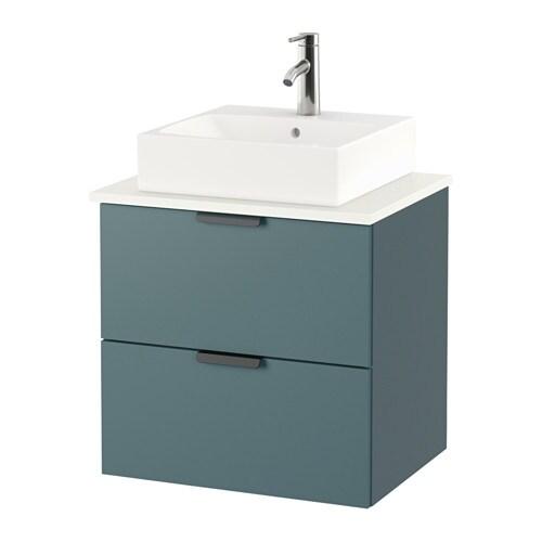 Piano Di Lavoro Bianco Ikea : Godmorgon tolken tÖrnviken mobile lavabo piano di