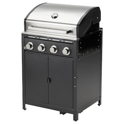 GRILLSKÄR Barbecue a gas, nero/inox da esterno, 72x61 cm