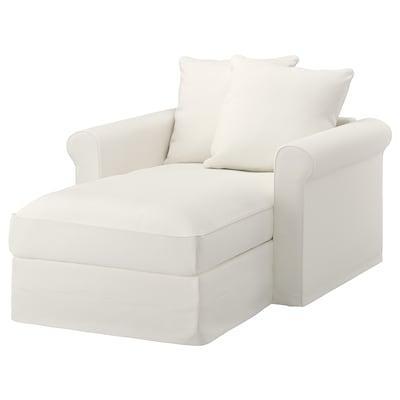 GRÖNLID Chaise-longue, Inseros bianco