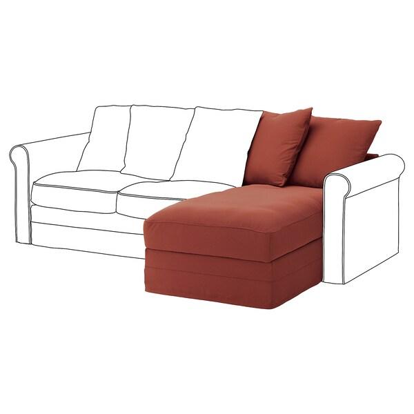 GRÖNLID Elemento chaise-longue, Ljungen rosso chiaro