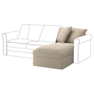 GRÖNLID Elemento chaise-longue, Sporda naturale
