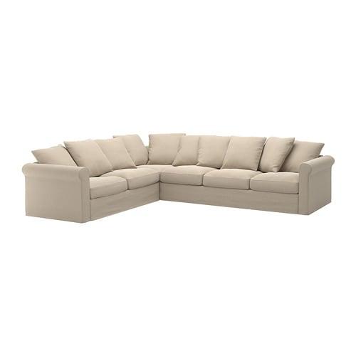 GRÖNLID Divano angolare a 5 posti - Sporda naturale - IKEA