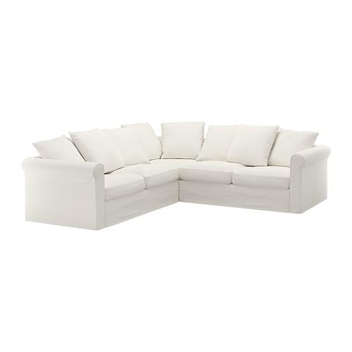 Divano 4 Posti.Gronlid Divano Angolare A 4 Posti Inseros Bianco Ikea