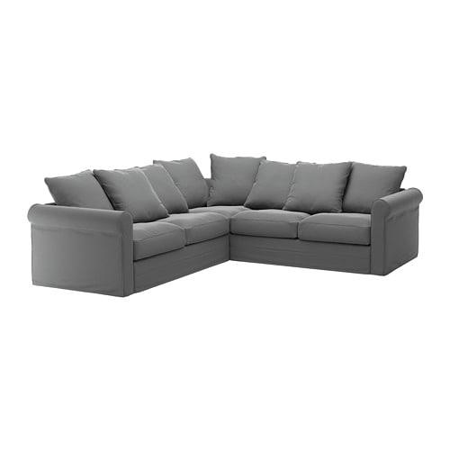 Gr nlid divano angolare a 4 posti ljungen grigio fumo ikea for Divano angolare