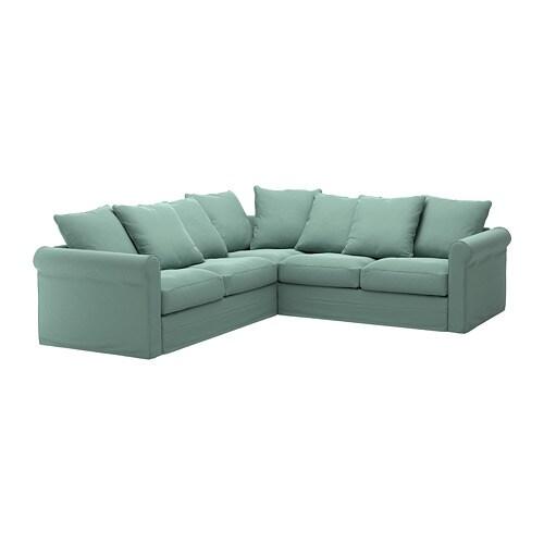 Divano Angolare Ikea Tessuto.Gronlid Divano Angolare A 4 Posti Ljungen Verde Chiaro
