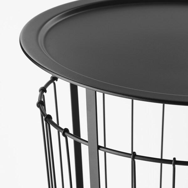 GUALÖV Tavolino/contenitore, nero, 60 cm