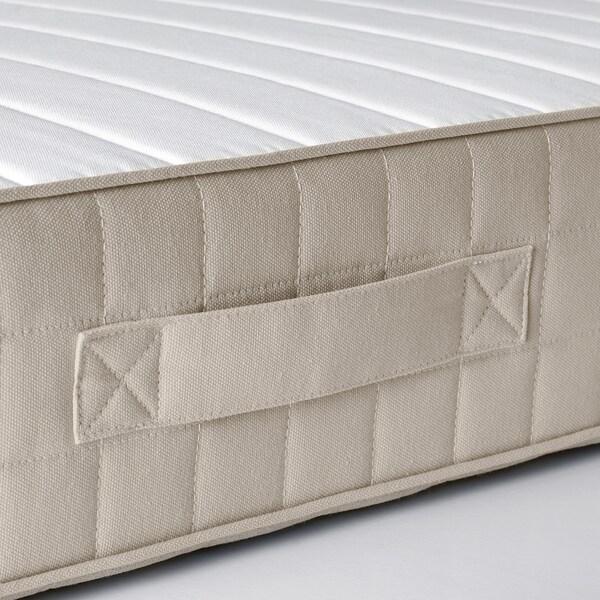 HAFSLO Materasso a molle, semirigido/beige, 140x200 cm