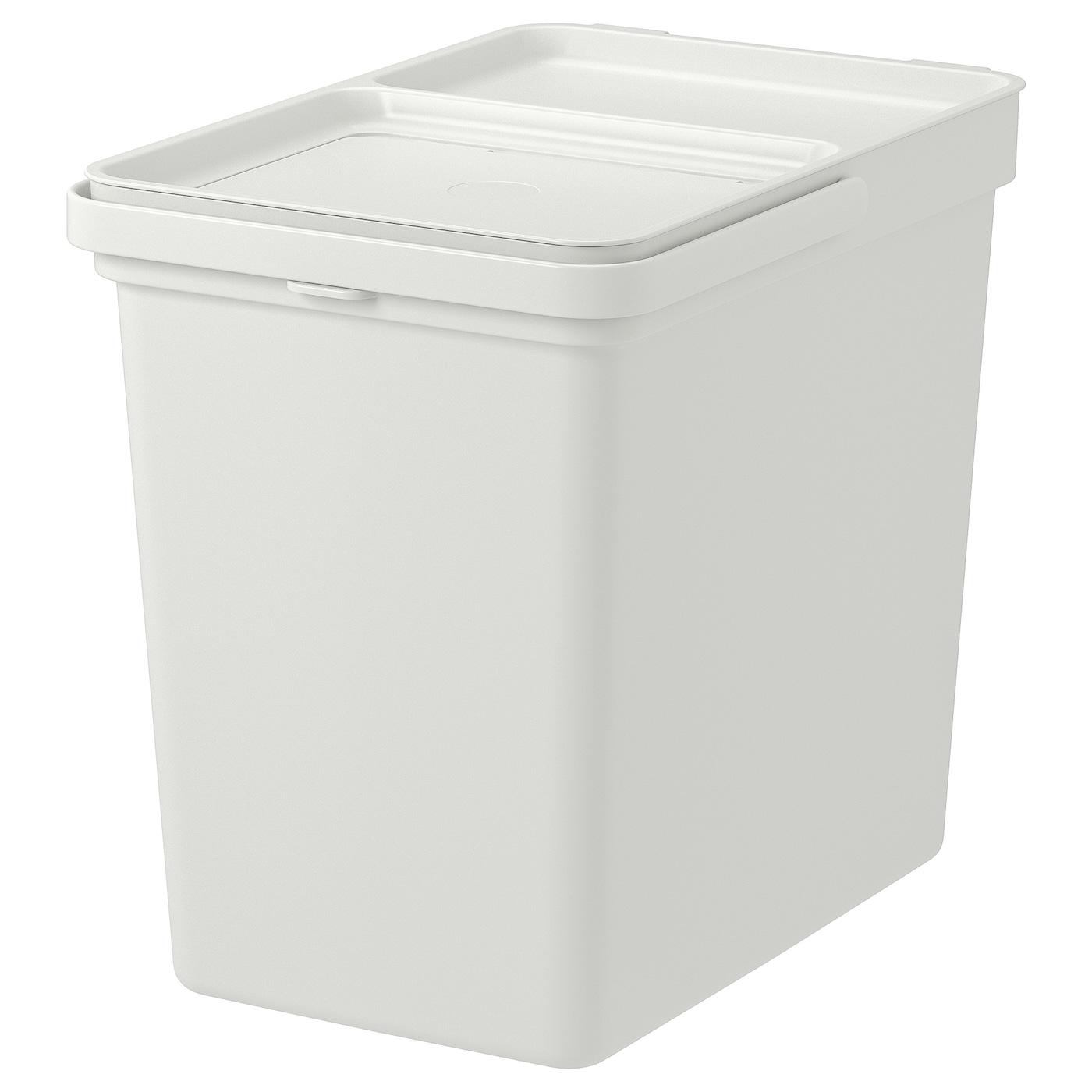 Raccolta Differenziata Bidoni Ikea hÅllbar secchio con coperchio - grigio chiaro 22 l