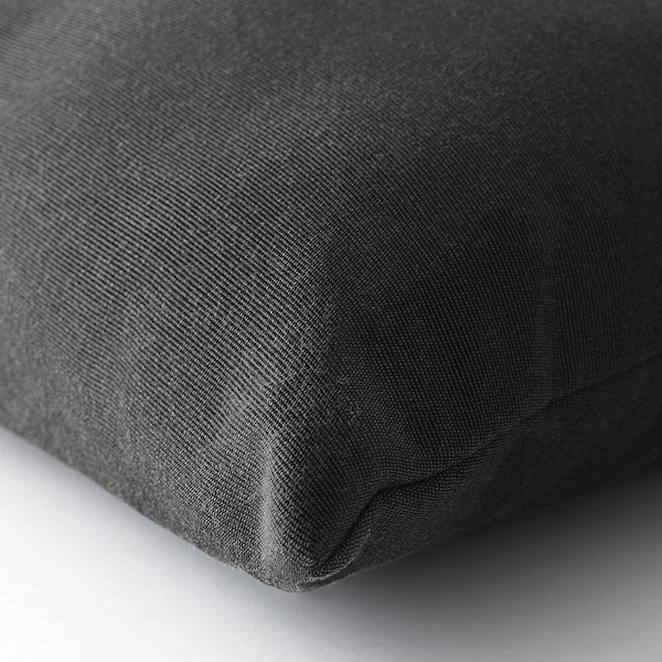 HÅLLÖ Cuscino schienale da esterno, nero, 62x42 cm