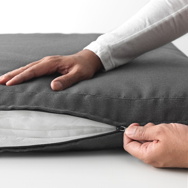 HÅLLÖ Cuscino sedile da esterno, nero, 62x62 cm