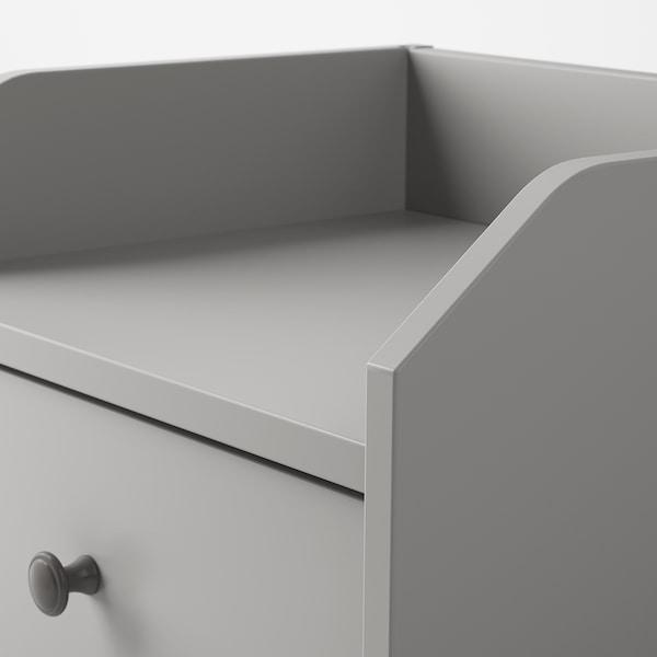 HAUGA Comodino, grigio, 40x36 cm