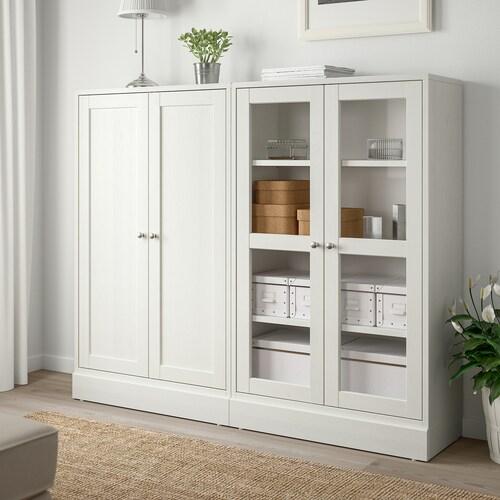 HAVSTA Mobile con ante a vetro - bianco - IKEA Svizzera