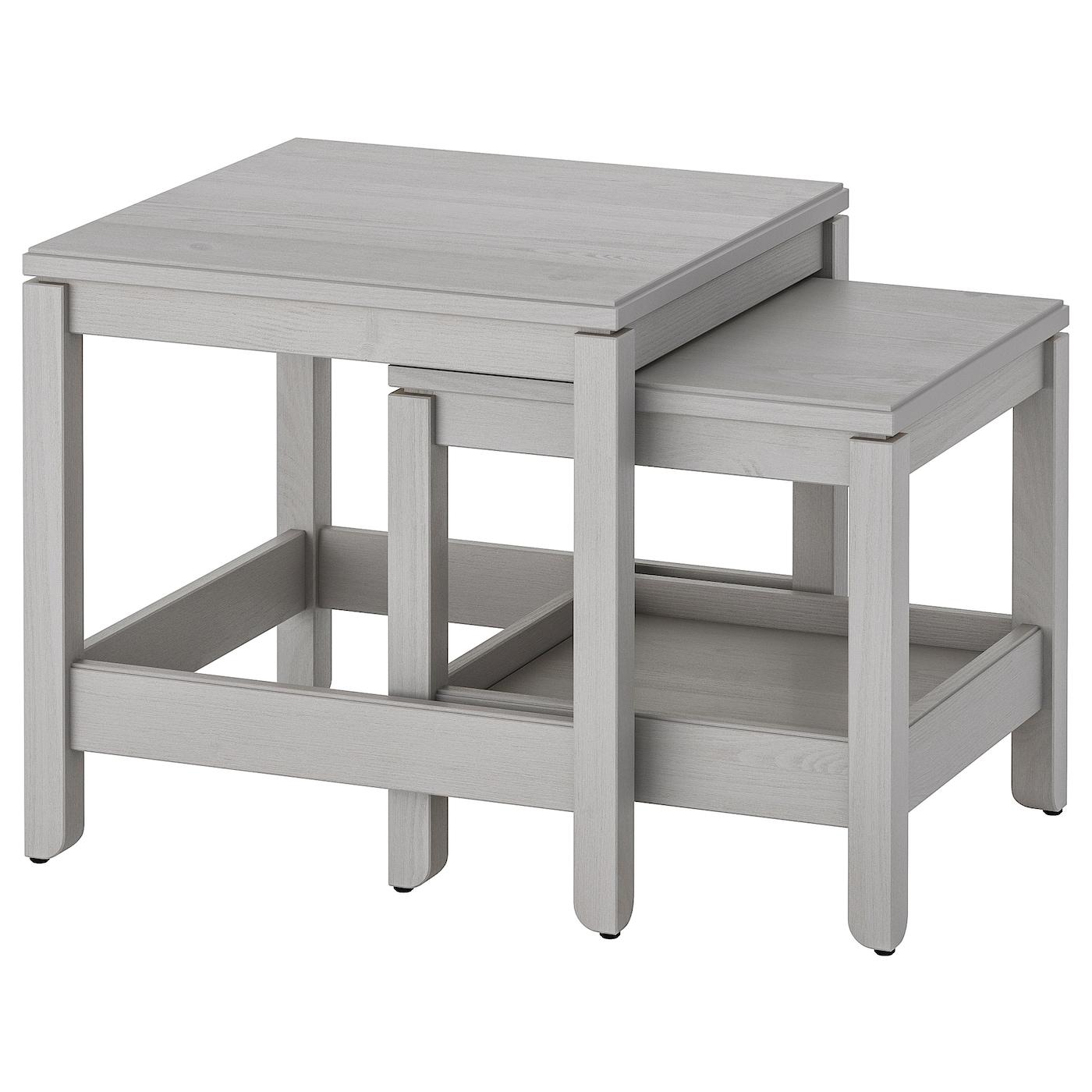 Grigio Set di tavolini in legno colore Zons