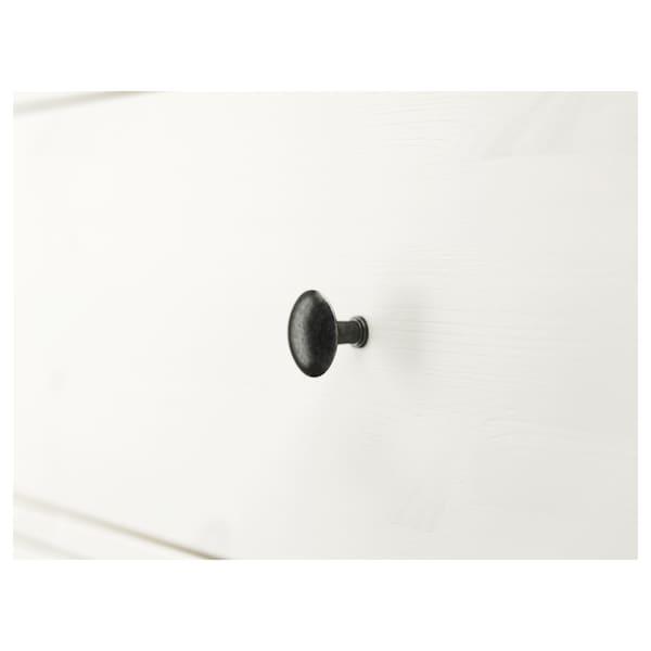 HEMNES Cassettiera con 3 cassetti, mordente bianco, 108x96 cm