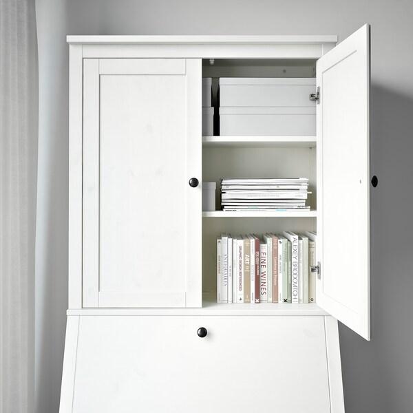 HEMNES Elemento supplementare secretaire, mordente bianco, 89x90 cm