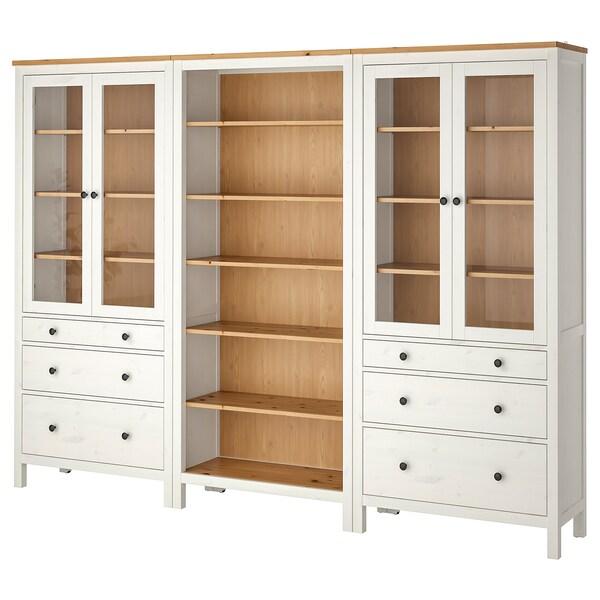 Ikea Hemnes Armadio 3 Ante.Hemnes Combinazione Ante Cassetti Mordente Bianco Marrone