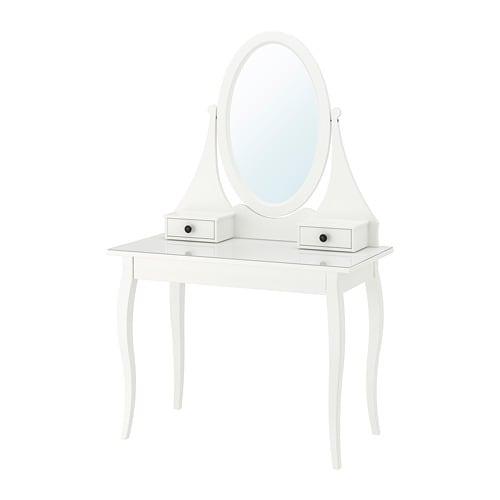 Hemnes toeletta con specchio ikea for Specchio da tavolo con luce ikea