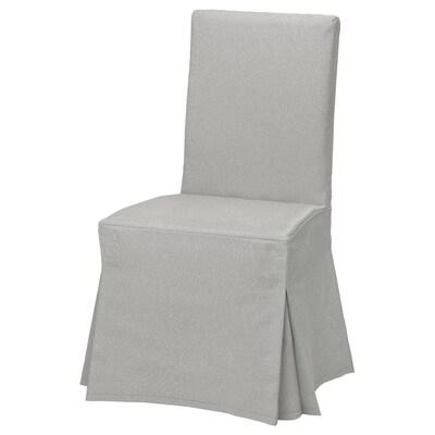 HENRIKSDAL Fodera lunga per sedia, Orrsta grigio chiaro
