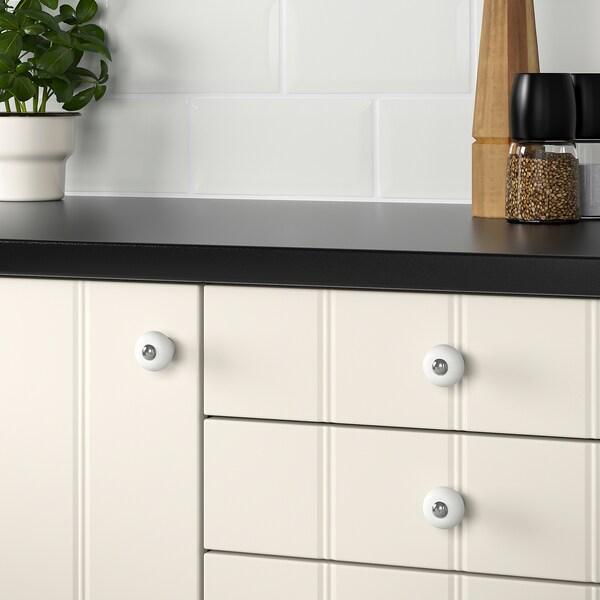 HISHULT Pomello, porcellana  bianco, 30 mm
