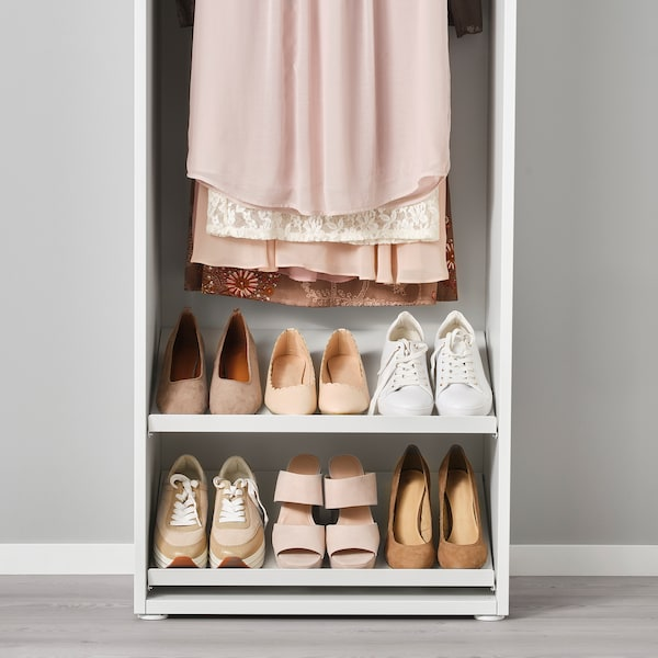 HJÄLPA Ripiano per scarpe, bianco, 60x40 cm