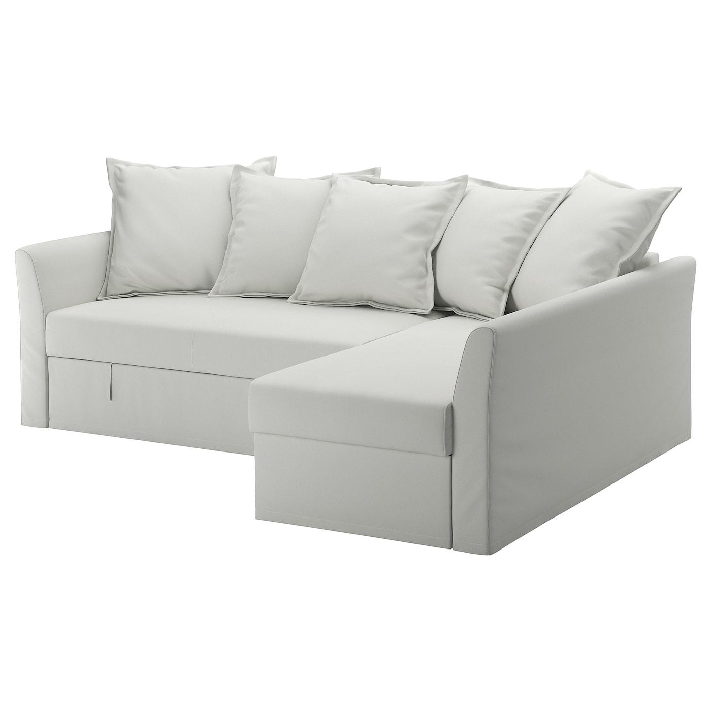 Holmsund divano letto angolare orrsta bianco grigio ikea for Divano holmsund