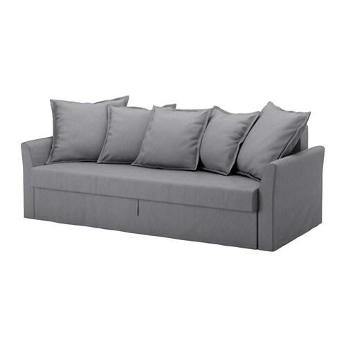 HOLMSUND Divano letto a 3 posti - Nordvalla grigio fumo - IKEA