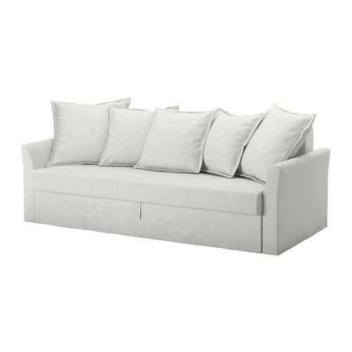 HOLMSUND Divano letto a 3 posti - Orrsta grigio-bianco chiaro - IKEA