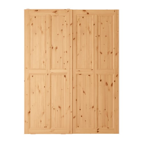 Hurdal coppia di ante scorrevoli 150x201 cm ikea for Ikea ante scorrevoli