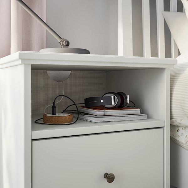 IDANÄS Comodino, bianco, 47x40 cm