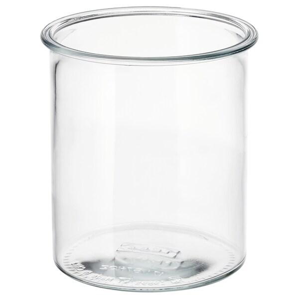 IKEA 365+ Contenitore, rotondo/vetro, 1.7 l