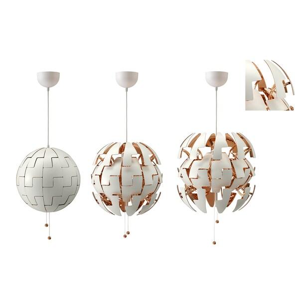 IKEA PS 2014 Lampada a sospensione, bianco/color rame, 35 cm