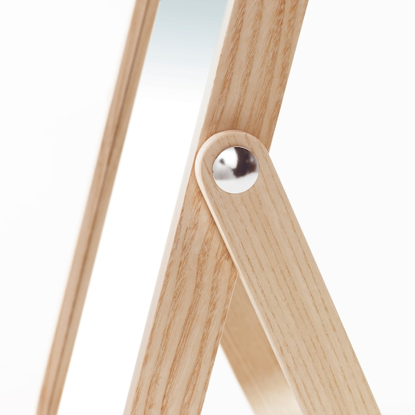 IKORNNES specchio da tavolo frassino 27 cm 40 cm