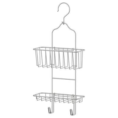 IMMELN Portaoggetti per doccia, 2 piani, zincato, 24x53 cm