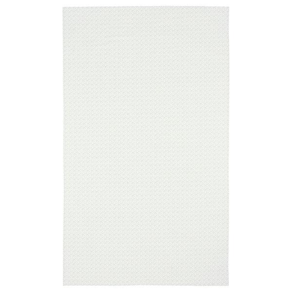 INBJUDEN Tovaglia, bianco/verde, 145x240 cm