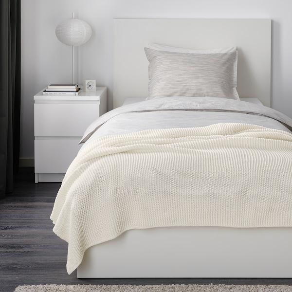 INGABRITTA Plaid, bianco sporco, 130x170 cm