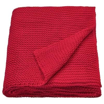 INGABRITTA Plaid, rosso, 130x170 cm