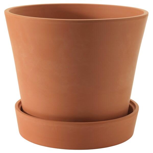 INGEFÄRA Vaso con sottovaso, da esterno terracotta, 32 cm
