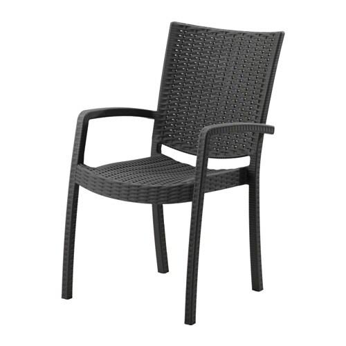 Sedie Con Braccioli Da Giardino.Innamo Sedia Con Braccioli Da Giardino Grigio Scuro Ikea