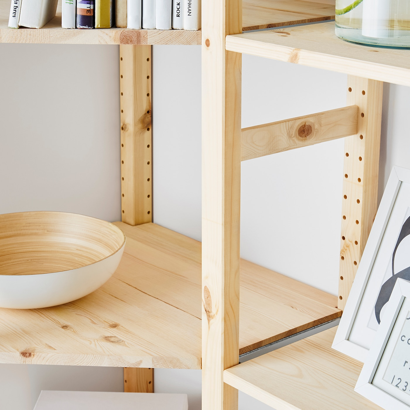Ikea Scaffali Legno Ivar ivar 4 sezioni/angolo - pino 229/144x30x179 cm