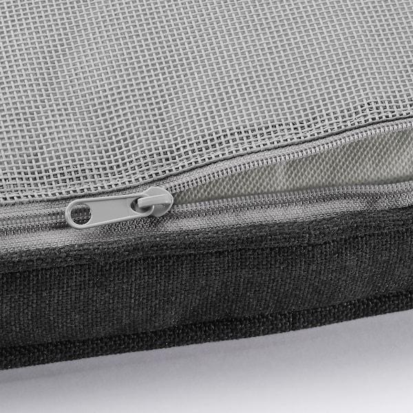 JÄRPÖN/DUVHOLMEN Cuscino per sedia da esterno, antracite, 50x50 cm