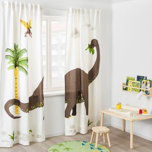 JÄTTELIK Tenda con bracciale, 2 teli, dinosauro/Brontosauro, 120x300 cm