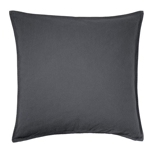 Cuscino Per Leggere A Letto Ikea.Jofrid Fodera Per Cuscino Blu Scuro Grigio
