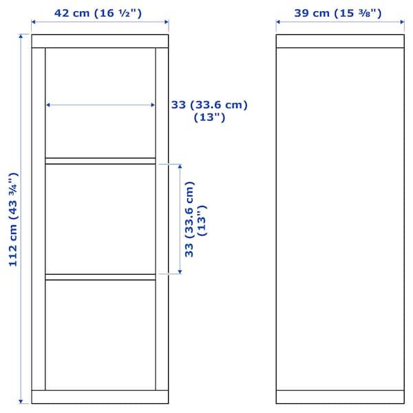 KALLAX / LACK Combinazione con ripiano, bianco, 231x39x147 cm