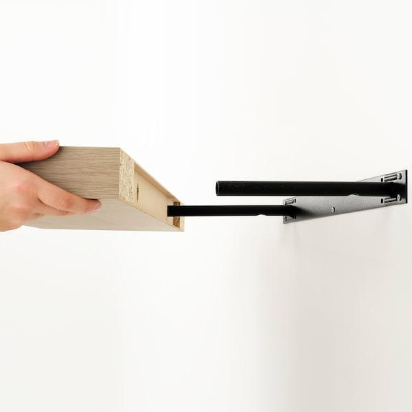 KALLAX / LACK Combinazione con ripiano, effetto rovere con mordente bianco, 224x39x147 cm
