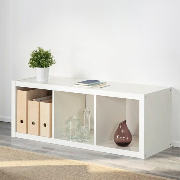 KALLAX Scaffale, bianco, 42x112 cm