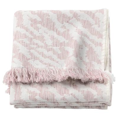 KAPASTER Plaid, bianco/rosa, 130x170 cm