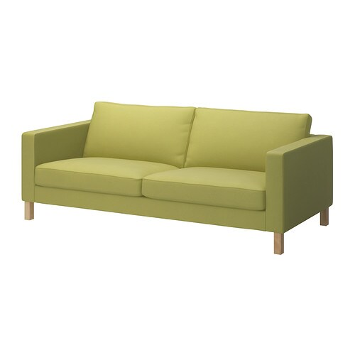 Karlstad fodera per divano a 3 posti sivik verde limone - Divano verde ikea ...